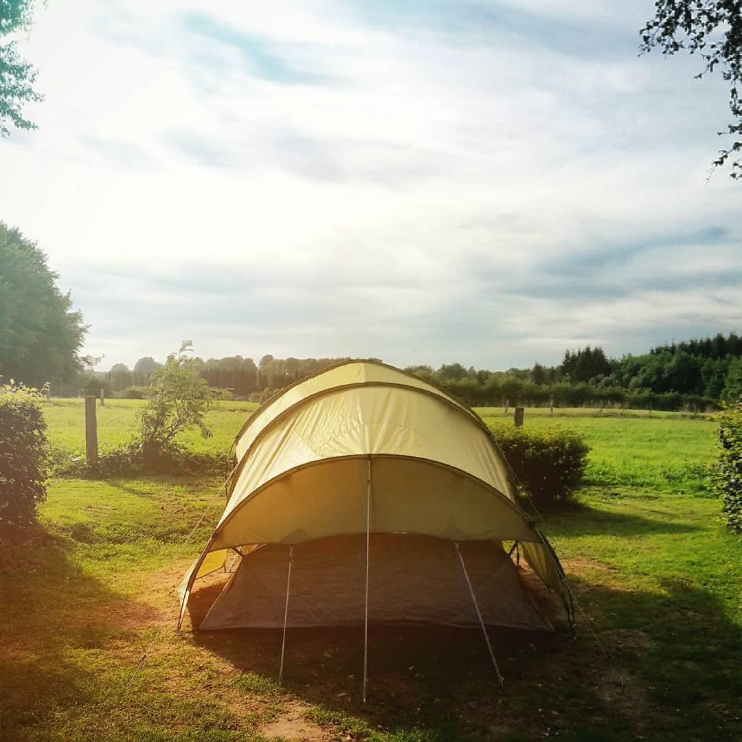Ce soir, camping aux pieds des Hautes Fagnes...